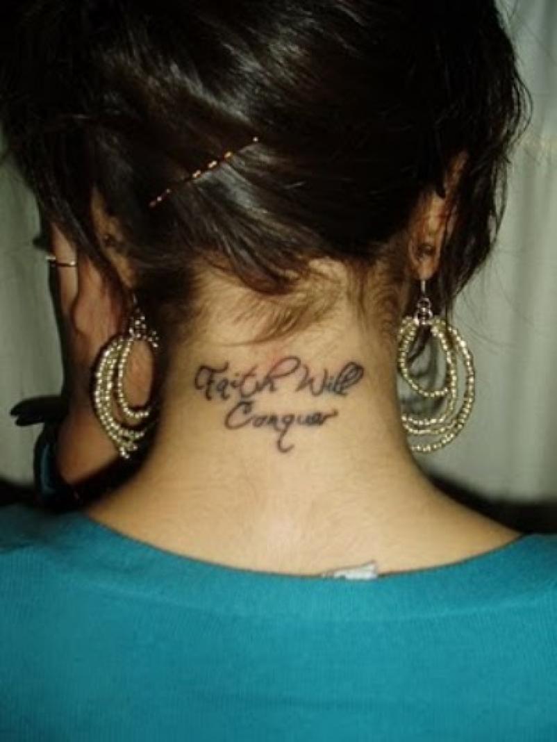 Татуировки на шее, мужские и женские тату на шее