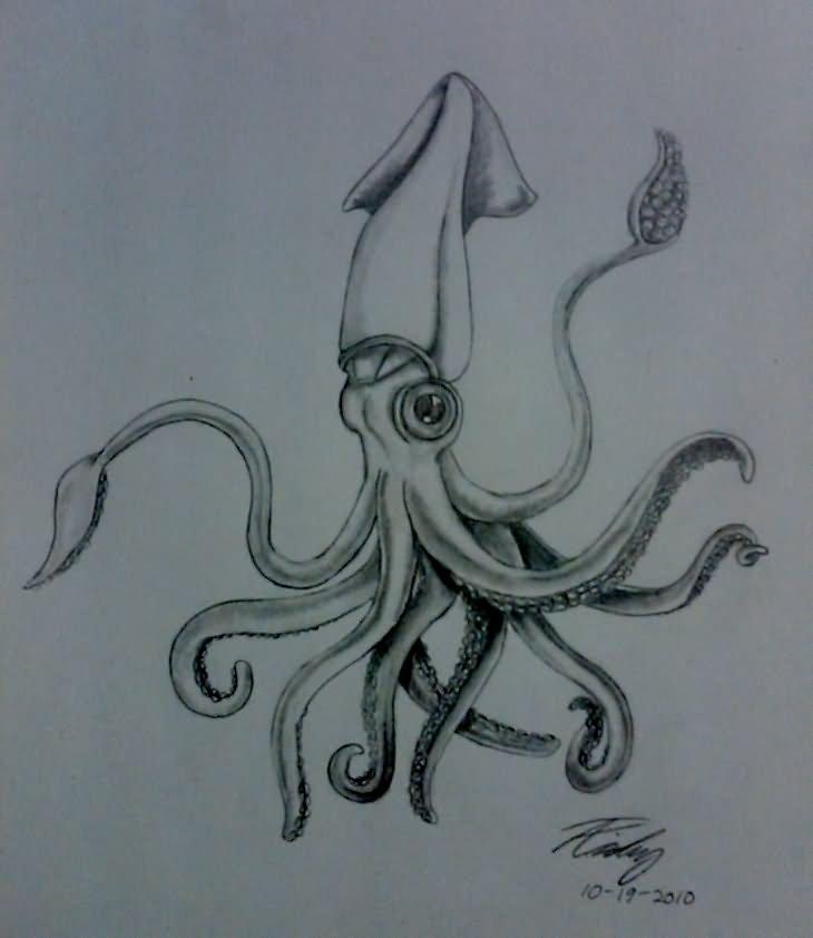 28 Traditional Squid Tattoos
