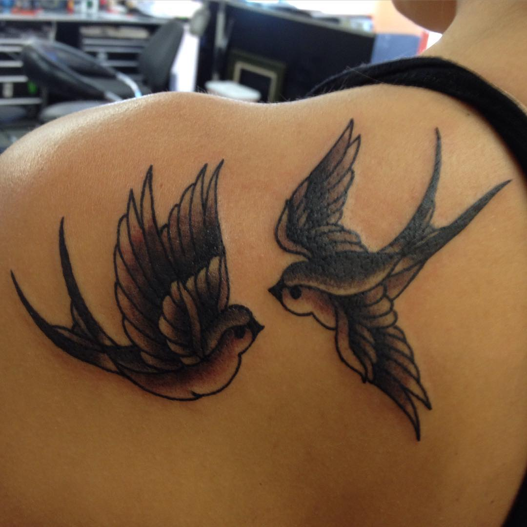 Black sparrow tattoos - photo#6