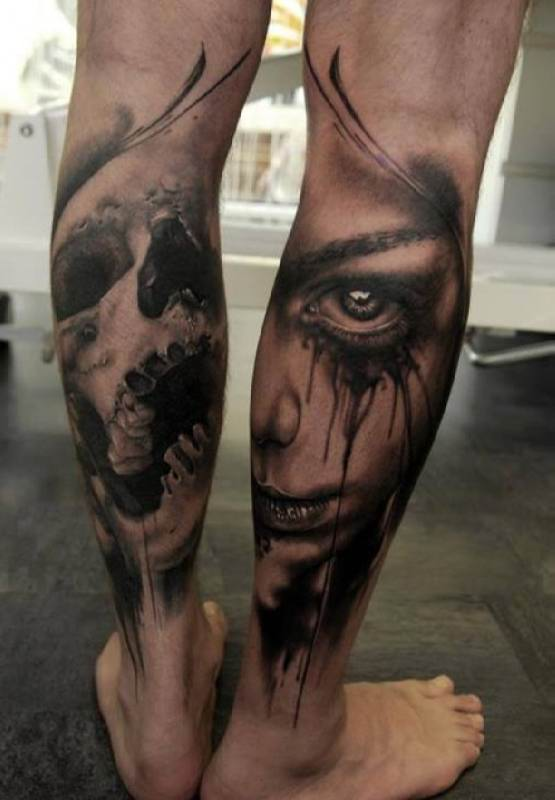 51 mind blowing calf tattoos. Black Bedroom Furniture Sets. Home Design Ideas