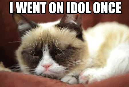 I Went On Idol Once Funny Grumpy Cat Meme Image 35 most funniest grumpy cat memes on the internet,Meme Grumpy Cat