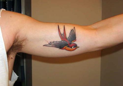Inner bicep sparrow tattoo for Inner bicep tattoos for guys