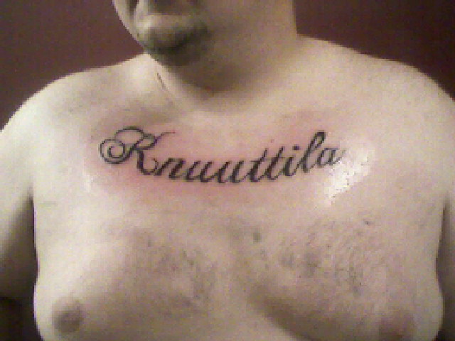 38 Name Tattoos On Chest