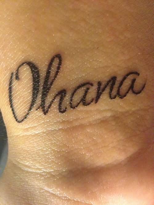 ohana name tattoo design for wrist by dany. Black Bedroom Furniture Sets. Home Design Ideas