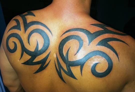 22 famous tribal back tattoos. Black Bedroom Furniture Sets. Home Design Ideas