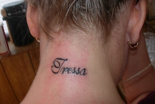 28+ Back Neck Name Tattoos