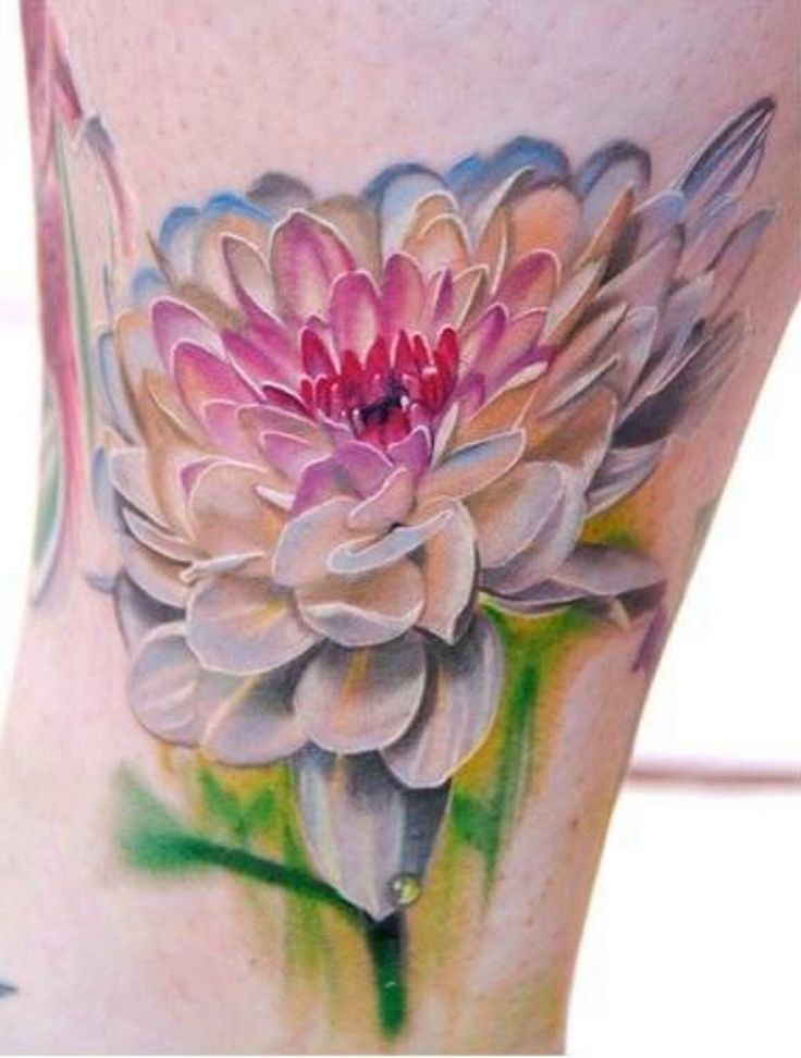 14 watercolor dahlia tattoos for Floral watercolor tattoo