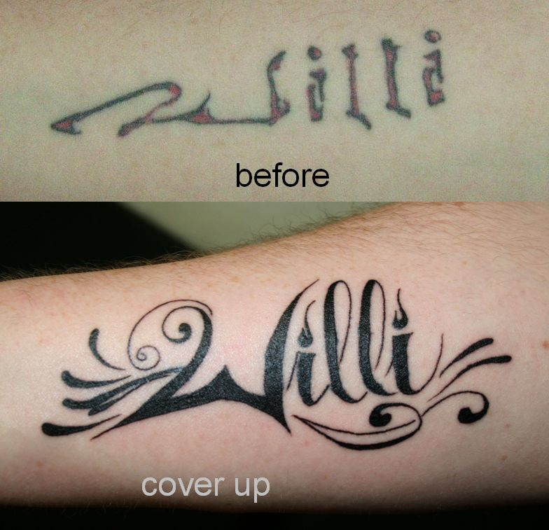 Willi Name Tattoo On Forearm By 2Face