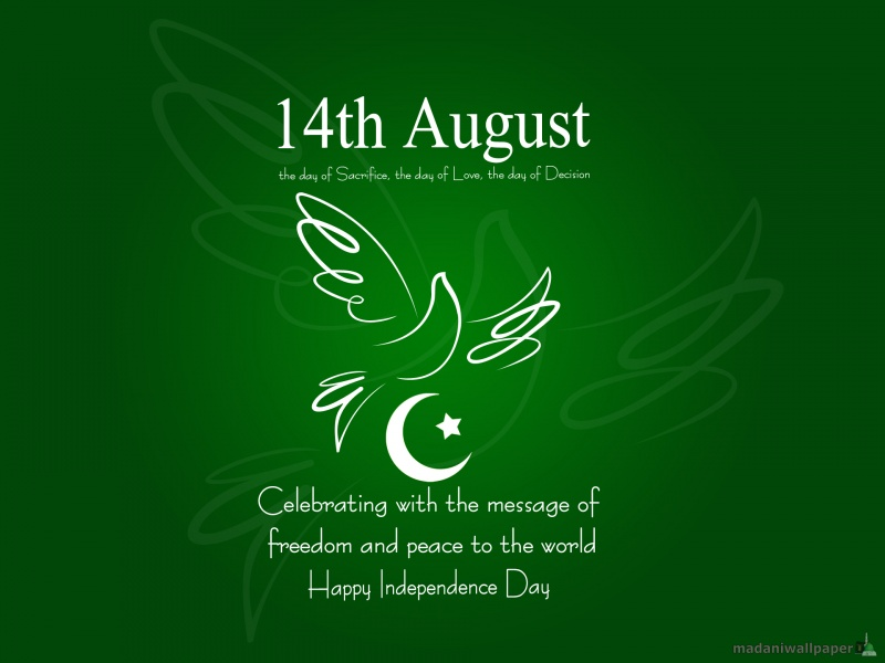 Genial 14th August Celebrating With The Message Of Freedom And Peace To The World  Happy Independence Day Pakistan