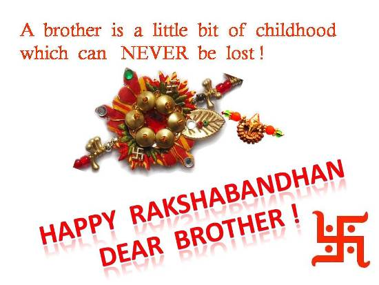 50 beautiful raksha bandhan wishes and greetings for brother a brother is a little bit of childhood which can never be lost happy raksha bandhan m4hsunfo