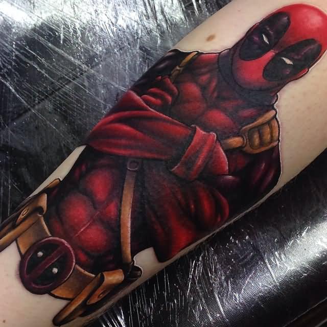 Deadpool Tattoo Outline: 24+ Deadpool Tattoos On Sleeve
