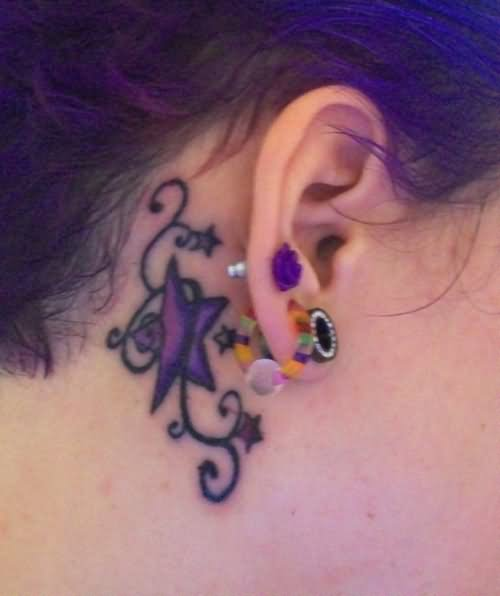 50+ Awesome Behind The Ear Tattoos