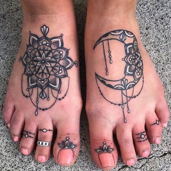 Mandala tattoos for Tattoos on toes