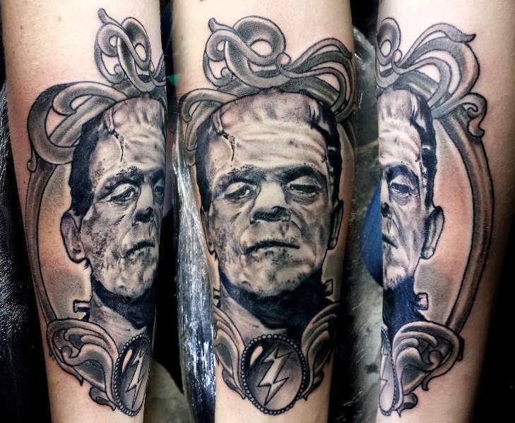 Frankenstein tattoo sleeve