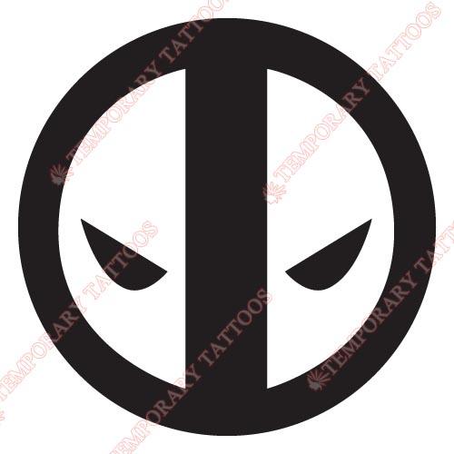 Deadpool Tattoo Outline: Top Deadpool Outline Images For Pinterest Tattoos