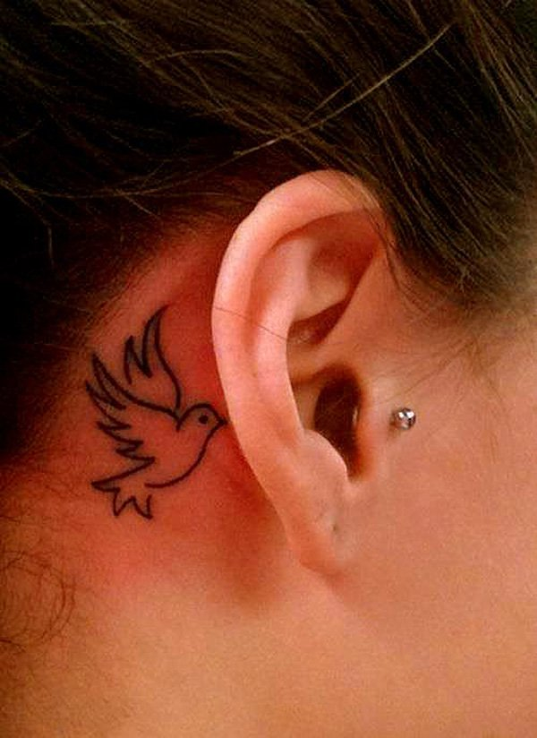 5 tinkerbell tattoos behind the ear. Black Bedroom Furniture Sets. Home Design Ideas