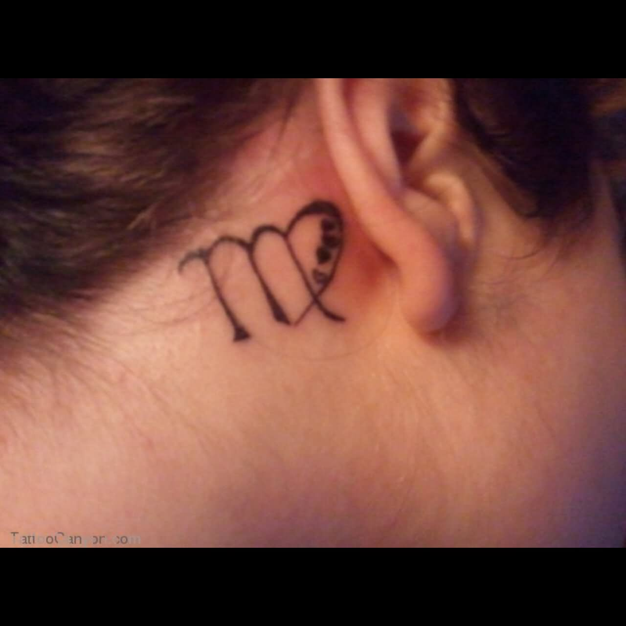 50 Awesome Behind The Ear Tattoos