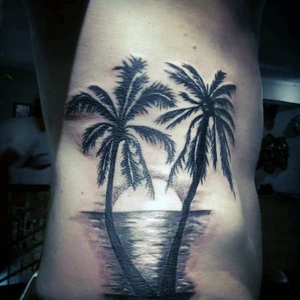 30+ Sunset View Palm Tree Tattoos