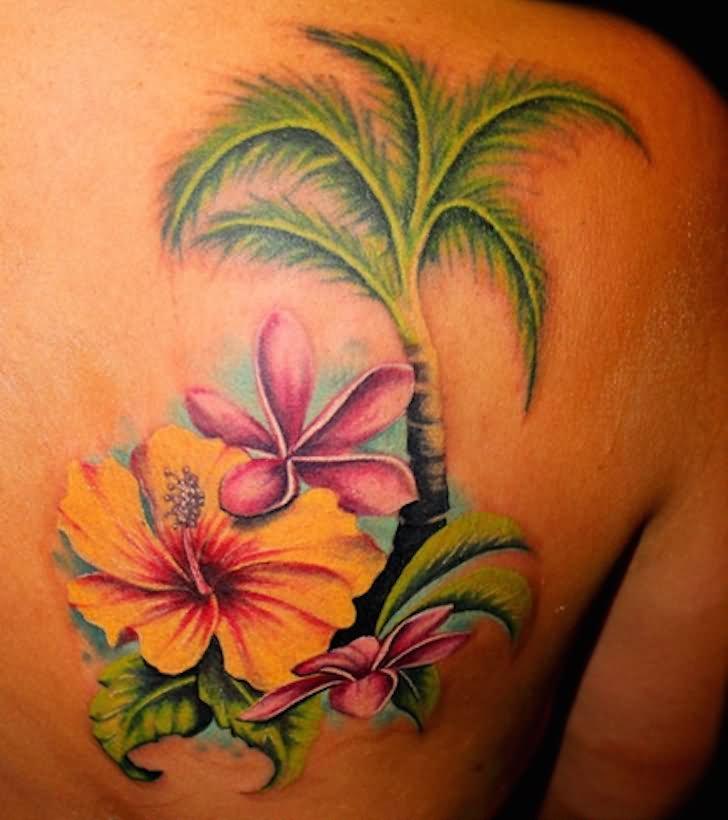 Flower Tree Tattoo: 61+ Amazing Palm Tree Tattoos