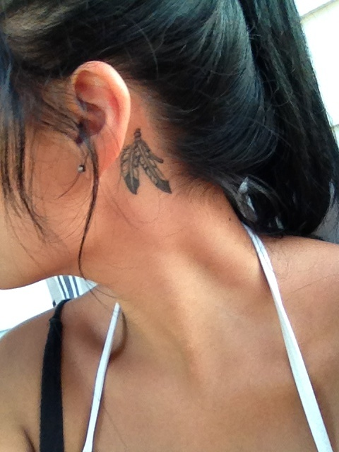 38 Amazing Feather Behind The Ear Tattoos It's not too much obvious unless. 38 amazing feather behind the ear tattoos