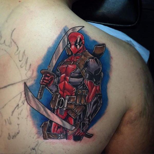 Deadpool Tattoo Outline: Deadpool Tattoos
