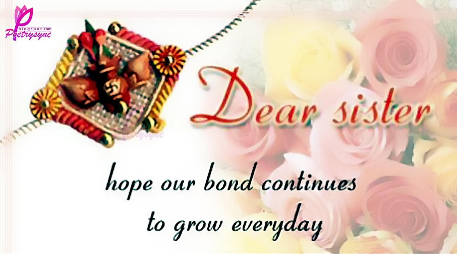 25 Most Beautiful Rakshan Bandhan Wishes For Sister Images And Photos