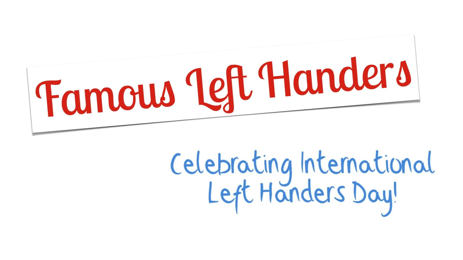 left handers day - photo #11