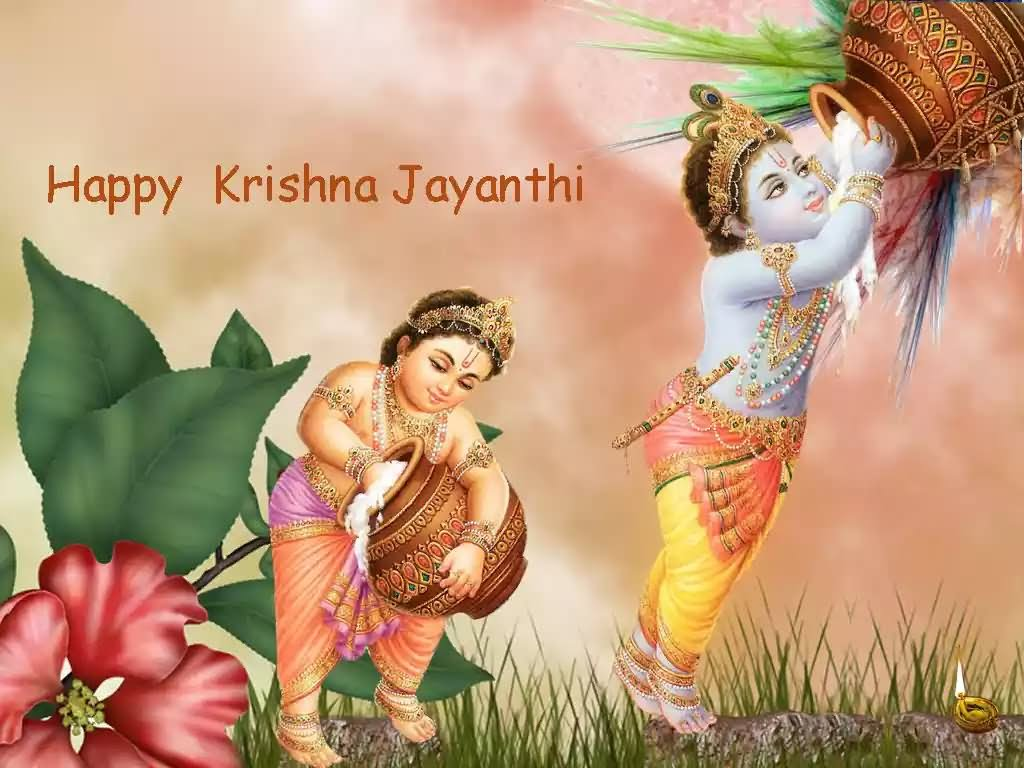 42 Very Beautiful Krishna Janmashtami Wish Pictures And Photos