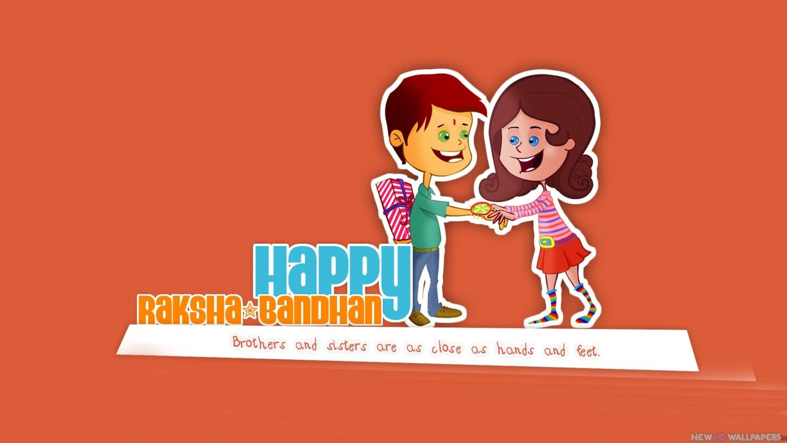 incredible raksha bandhan greeting pictures happy raksha bandhan brothers and sisters are as close as hand and feet