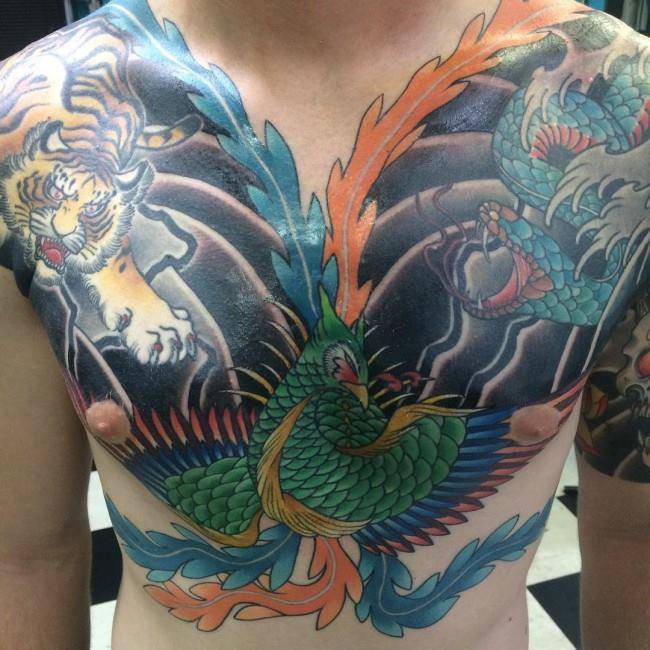 42 attractive phoenix tattoos. Black Bedroom Furniture Sets. Home Design Ideas