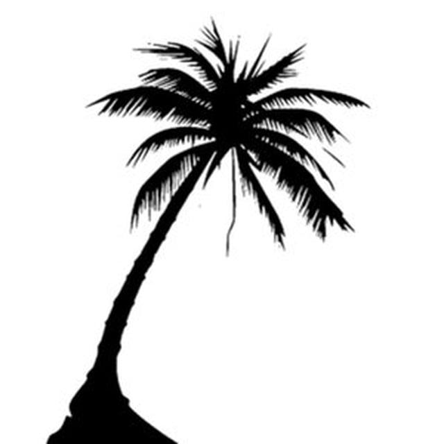 palm tree tattoo black and white - photo #11