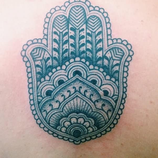 b0a528522f029 Simple Black Ink Hamsa Tattoo Design By Jorge Teran