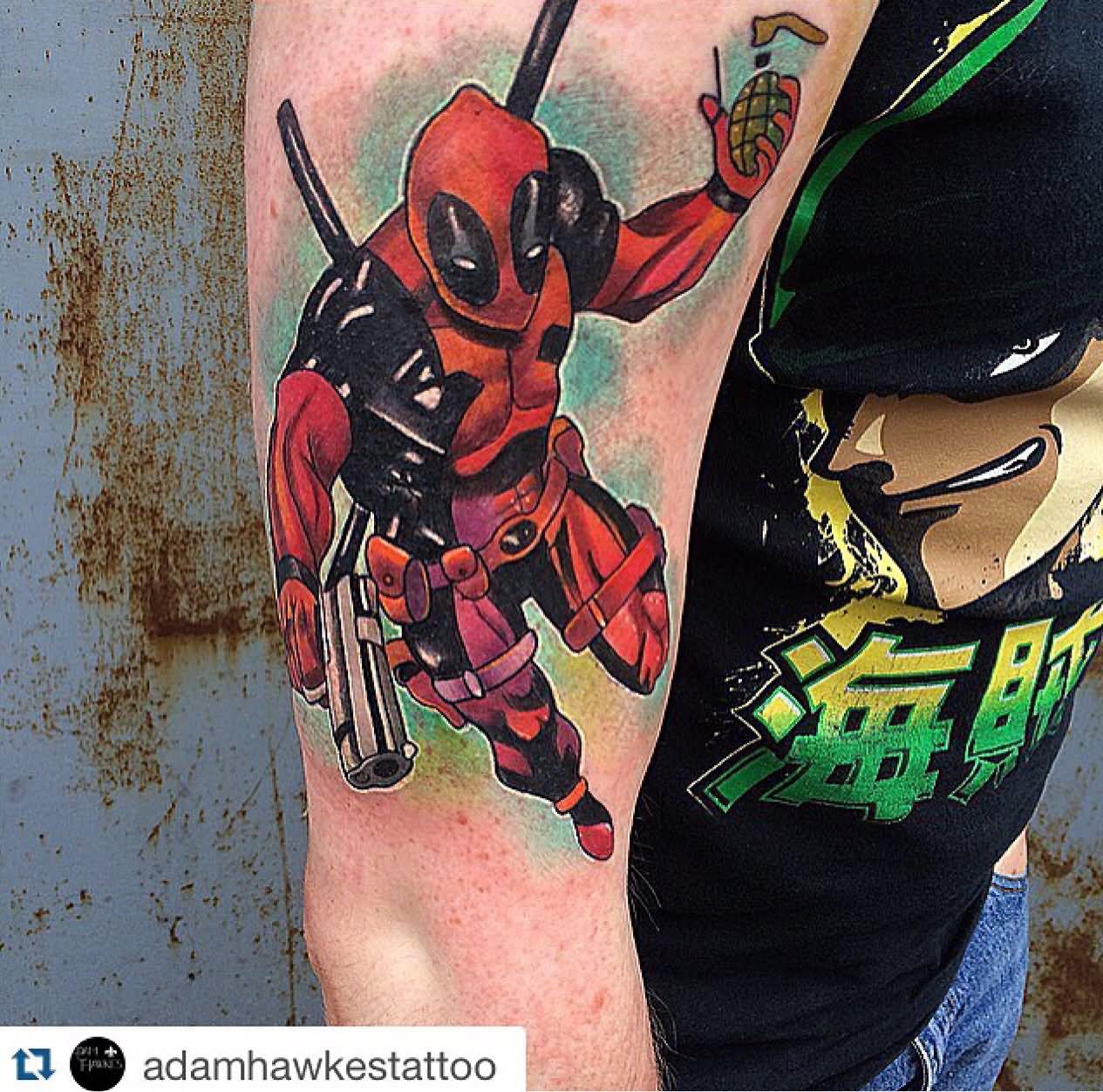 Deadpool Tattoo Outline