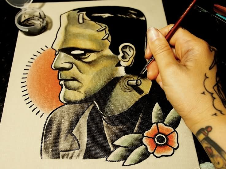 15+ Traditional Frankenstein Tattoos  15+ Traditional...