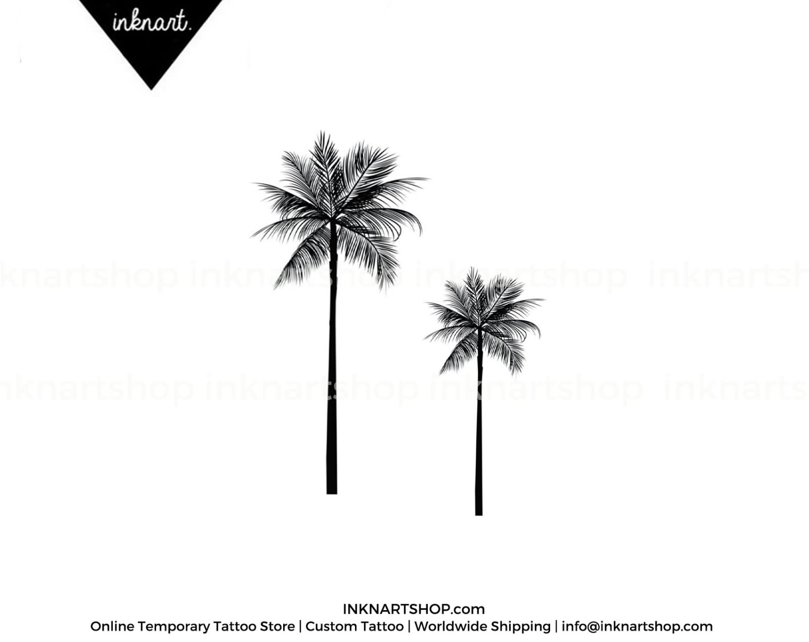 13 lovely palm tree tattoos designs. Black Bedroom Furniture Sets. Home Design Ideas