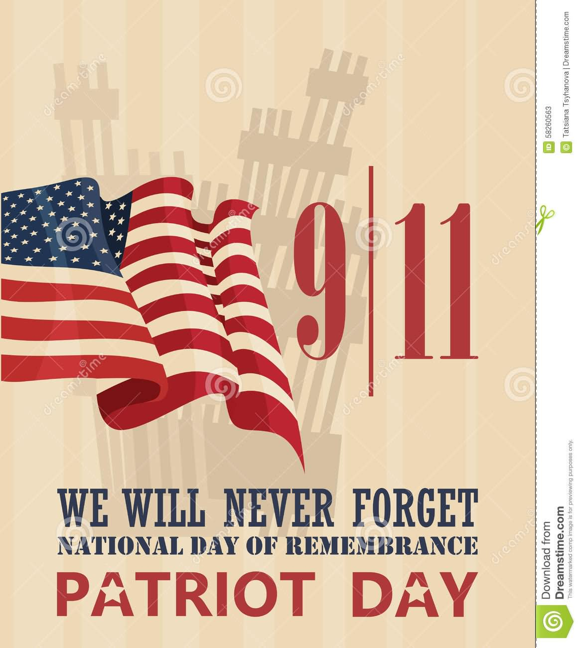 9-11 We Never Forget National Day Of Remembrance Patriot Day