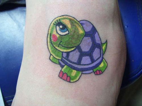 15 Cool Turtle Tattoos On Foot