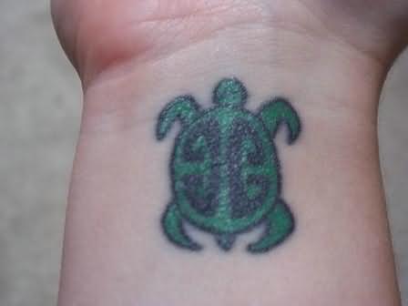 Turtle tattoo wrist - photo#17