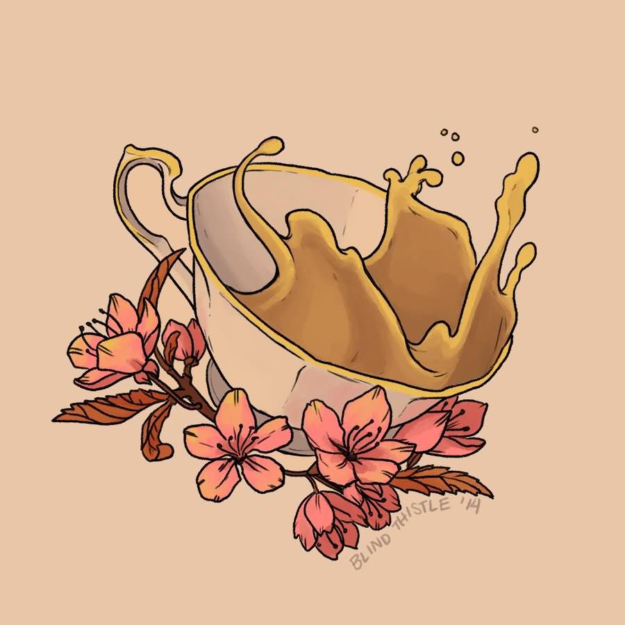 17+ Alice In Wonderland Teacup Tattoos  |Alice Tea Tattoo