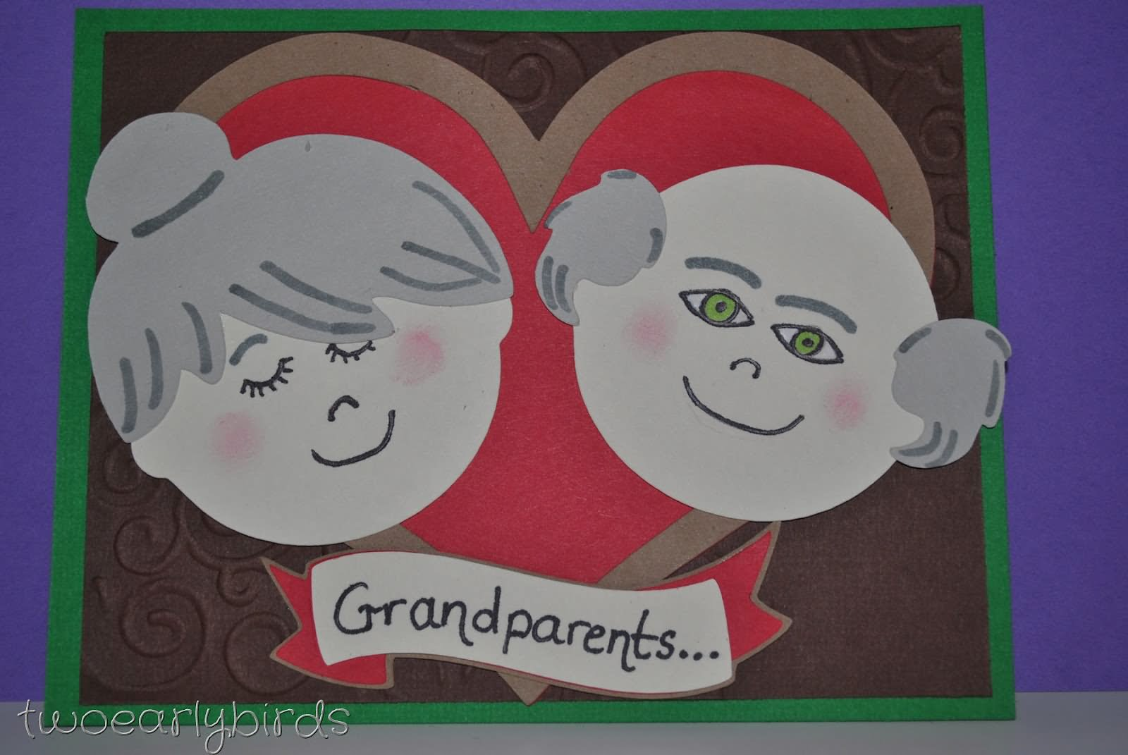 Good Card Making Ideas For Grandparents Day Part - 5: Grandparents Day Beautiful Greeting Card