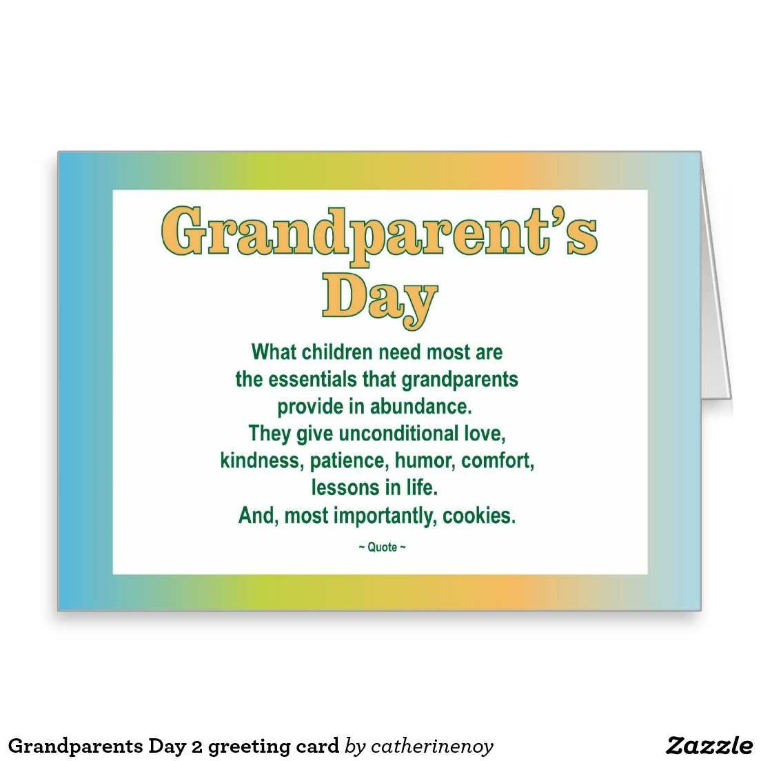 Grandparents Day What Children Need Most Are The Essentials That Provide In Abundance