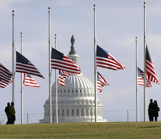 Half Staff Us Flag On Patriot Day