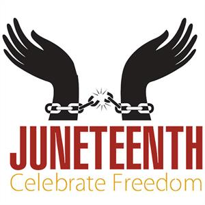 Handcuffed Hands With Juneteenth Celebrate Freedom