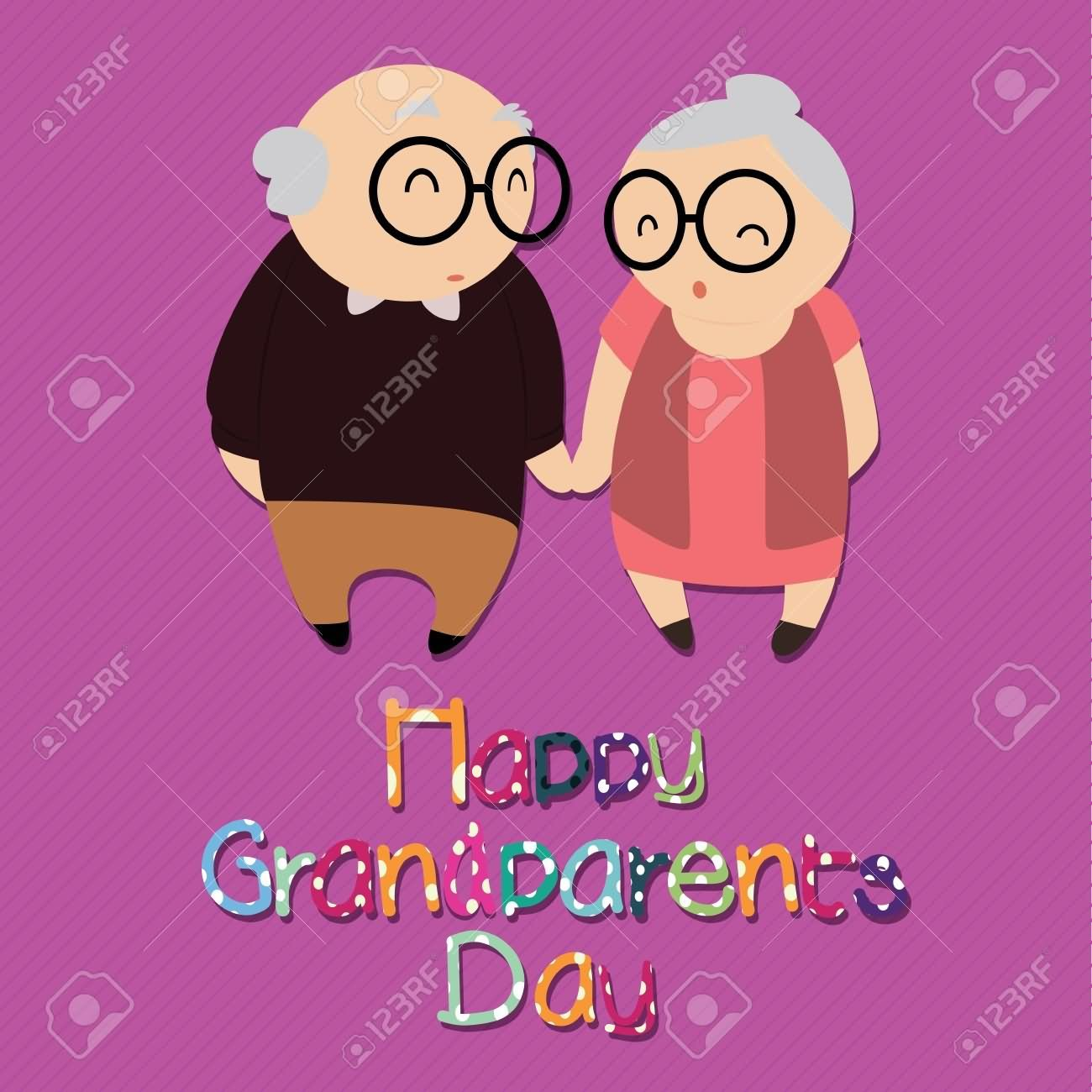 35 most beautiful grandparents day greeting card images happy grandparents day old couple greeting card kristyandbryce Gallery
