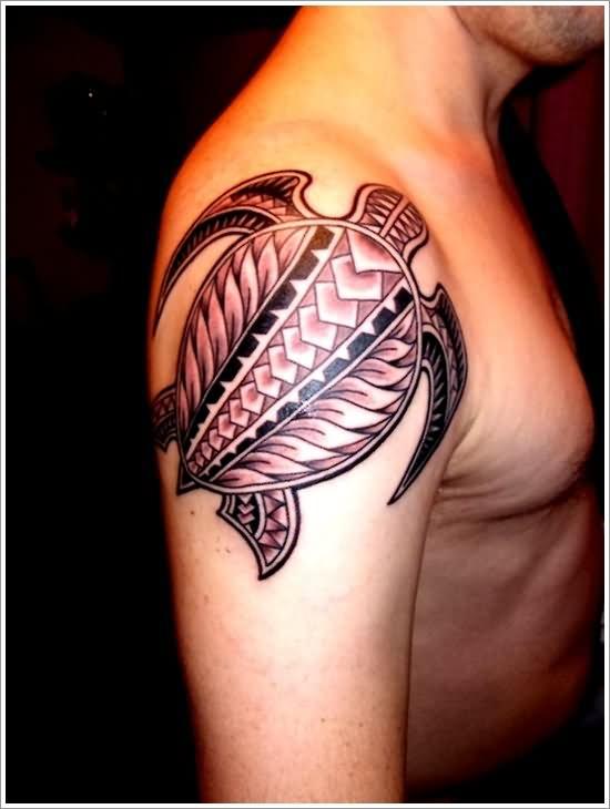 hawaiian turtle tattoo on shoulder. Black Bedroom Furniture Sets. Home Design Ideas