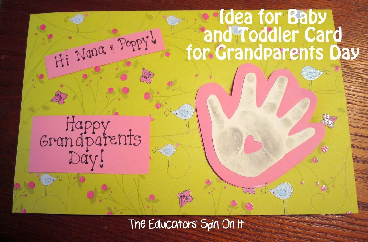 Beautiful Card Making Ideas For Grandparents Day Part - 2: Idea For Baby And Toddler Card For Grandparents Day Happy Grandparents Day