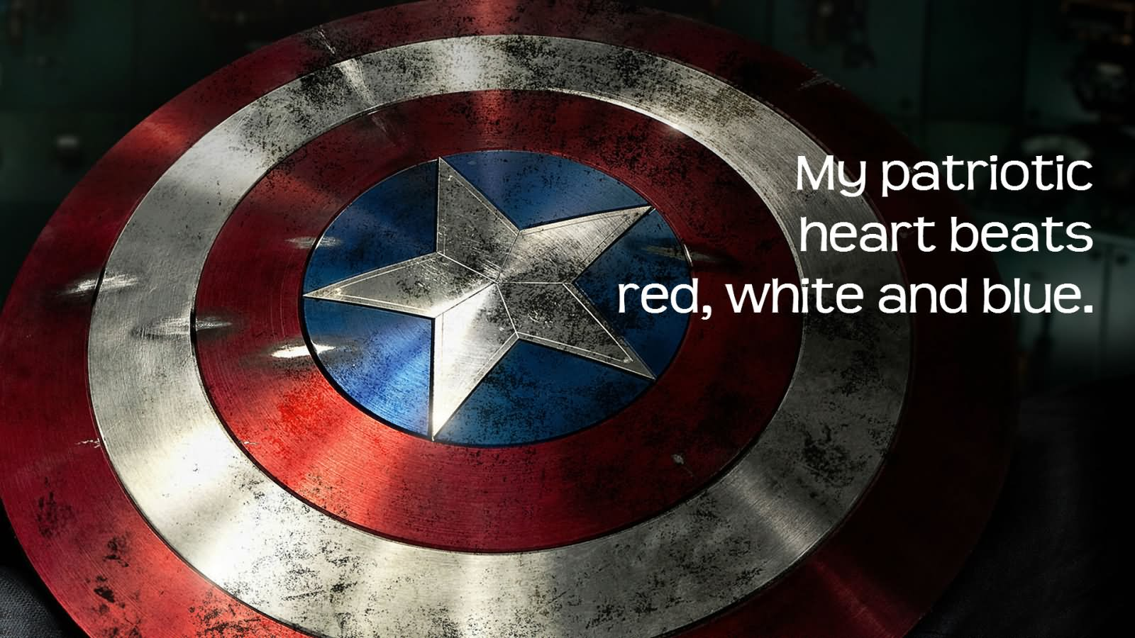 My Patriotic Heart Beats Red, White And Blue