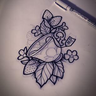 12 amazing teacup tattoo designs. Black Bedroom Furniture Sets. Home Design Ideas