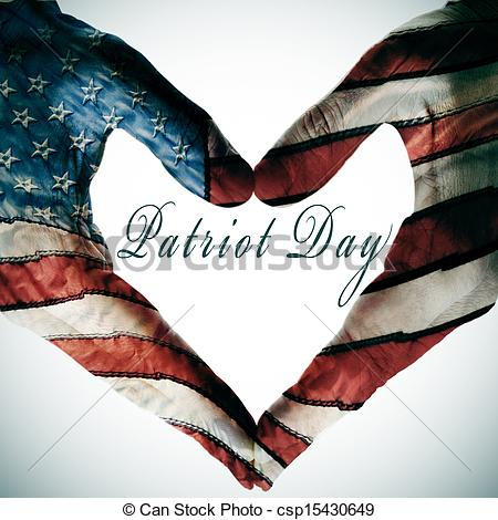 Patriot Day American Flags Hands Picture