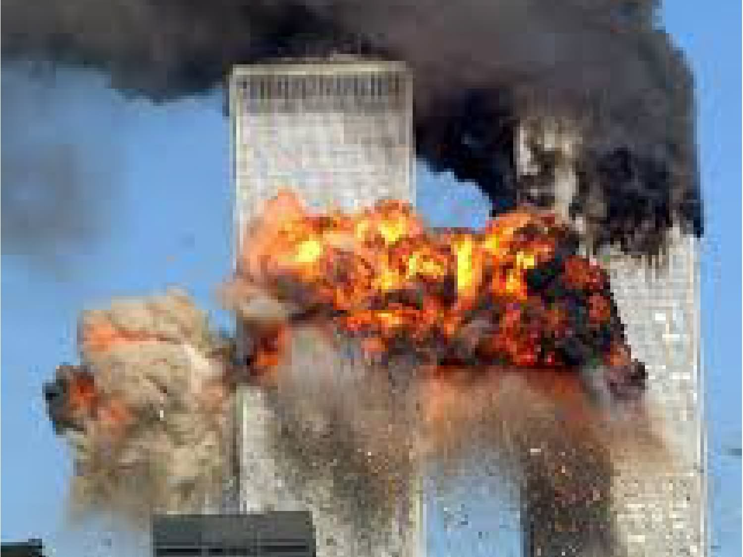 Patriot Day Burning Twin Towers Picture